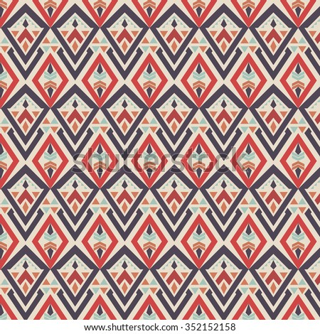 Colorful Seamless Ethnic Pattern Background Red Stock