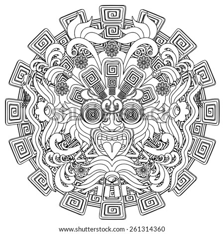 Bluedarkat 39 s portfolio on shutterstock for Aztec mask template