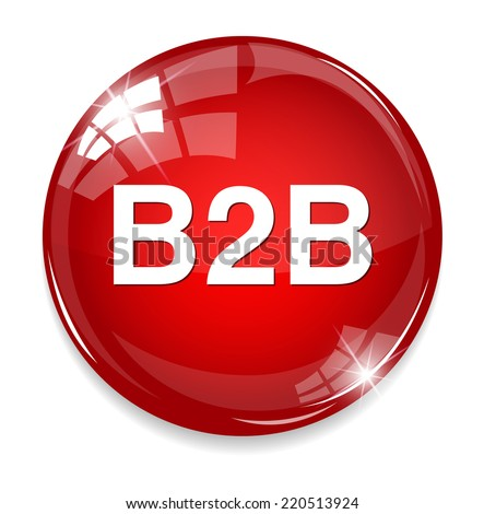 b2b icon - stock vector