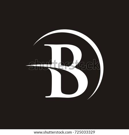 B initial letter logo design template stock vector 725033329 b initial letter logo design template vector altavistaventures Gallery