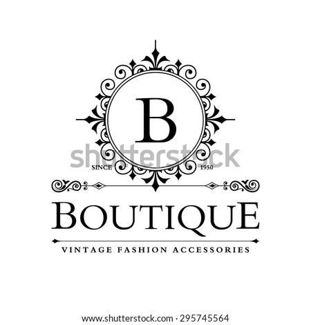 L Letter Logo Monogram Design Elements Stock Vector 294643655 ...