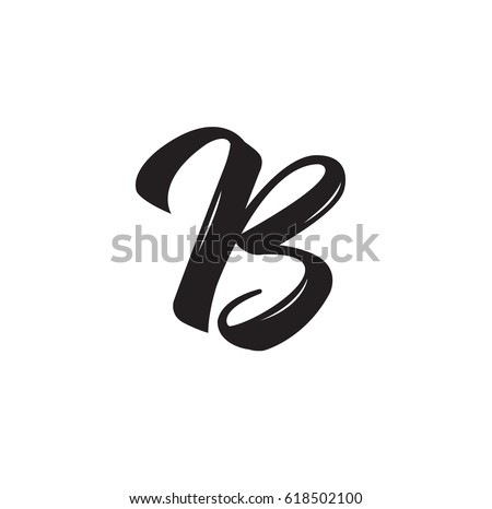 B Letter Text Design Vector Calligraphy Typography Poster Usable As Background