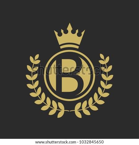 B Luxury Logo Design Boutique Hotel Resort Restaurant Royalty Stock ...