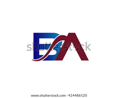 BA company group linked letter logo