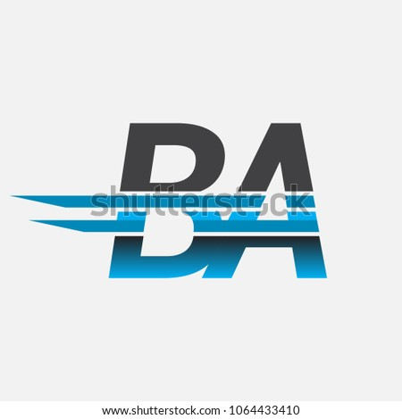 Ba Initial Logo Company Name Colored Stock Vector 2018 1064433410