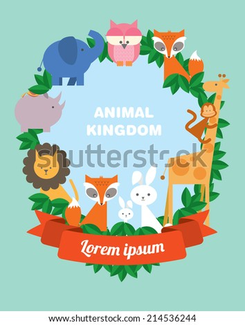baby animals template vector/illustration - stock vector