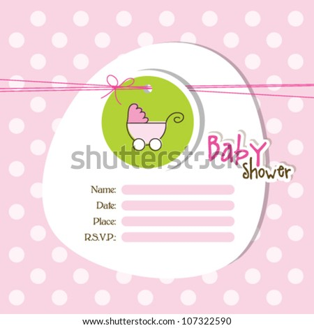 Baby arrival card - stock vector