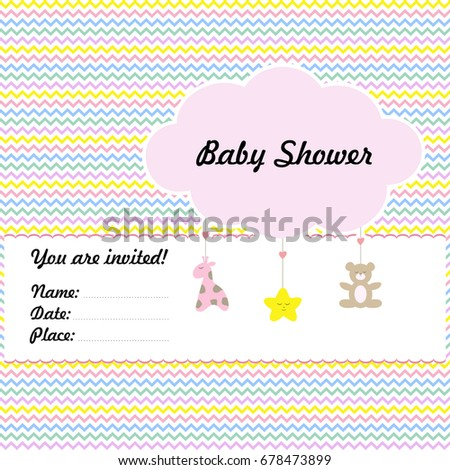 Baby Arrival Shower Template Tender Cloud Stock Vector HD (Royalty ...