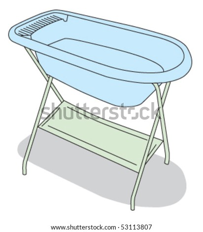 baby bathtub - stock vector