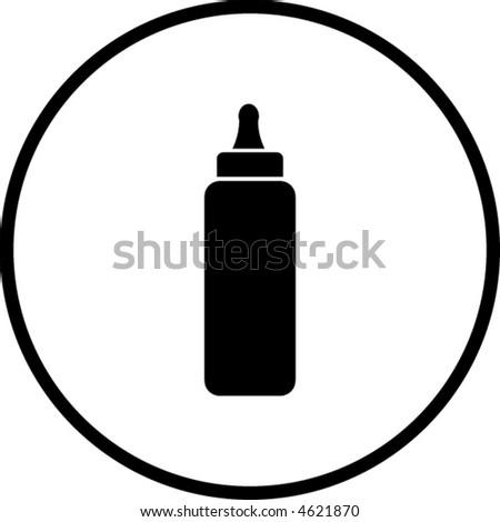 baby bottle symbol - stock vector
