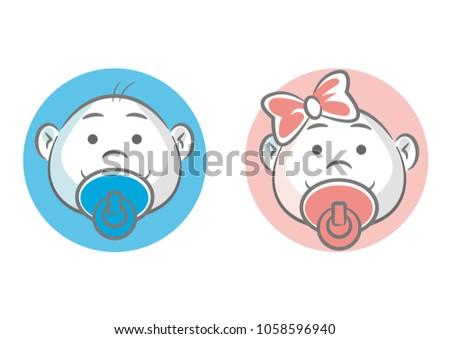 Baby Boy Girl Symbols Stock Vector 1058596940 Shutterstock