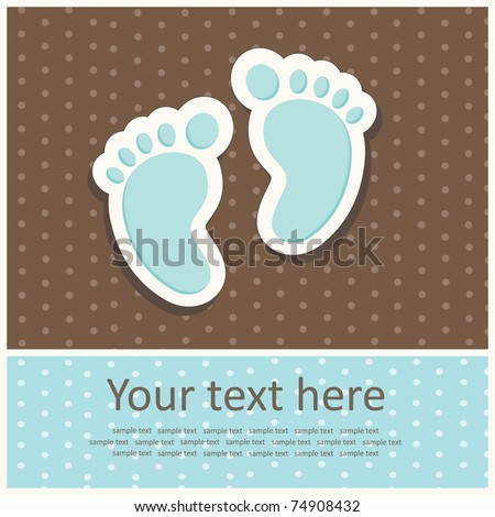 Baby Boy Arrival Card Images RoyaltyFree Images Vectors – Sample Baby Announcement