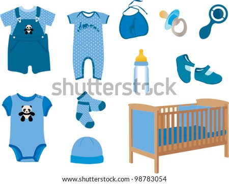 Baby boy fashion - stock vector