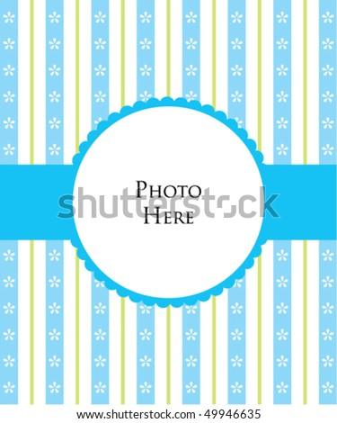 baby boy photo template - stock vector