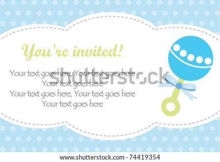 Baby boy rattle - stock vector