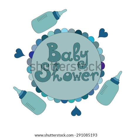 Baby Boy Shower Vector Illustration