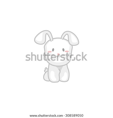 Baby Bunny - stock vector