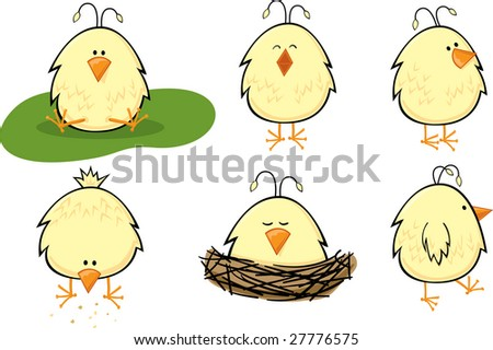 Baby Chick Set - stock vector