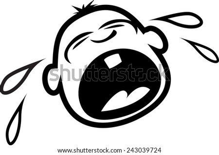 Baby crying - stock vector