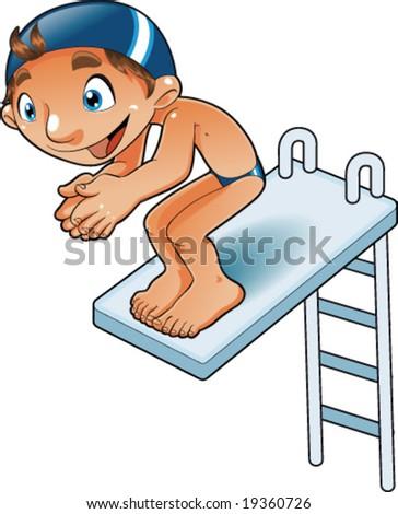 Baby Diver - stock vector