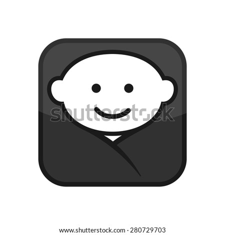 Baby Face Apps Icon Vector