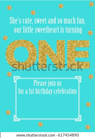 Baby first birthday card one year stock vector 617454890 baby first birthday card one year invitation vector bookmarktalkfo Choice Image