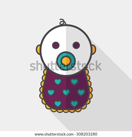baby flat icon with long shadow,eps 10 - stock vector