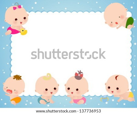 Baby Frame Stock Photo (Photo, Vector, Illustration) 137736953 ...