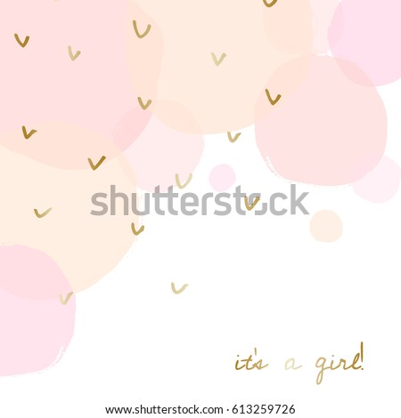 baby girl birth announcementbaby shower card stock vector royalty