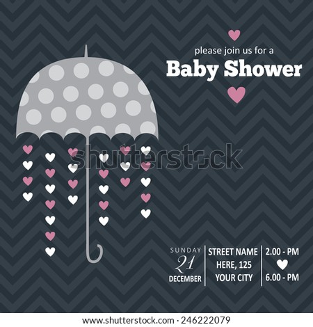 Baby girl invitation baby shower vector stock vector 246222079 baby girl invitation for baby shower vector format stopboris Image collections