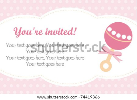 Baby girl rattle - stock vector