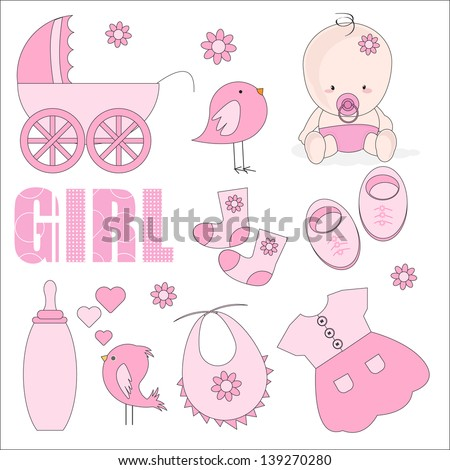 baby girl shower design elements