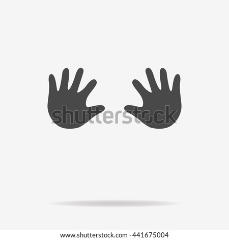 Baby hands icon. Vector concept illustration for design. - stock vector