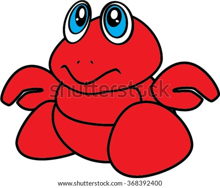 baby hermit crab isolated illustration - stock vector