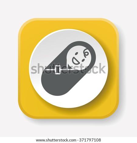 baby icon - stock vector