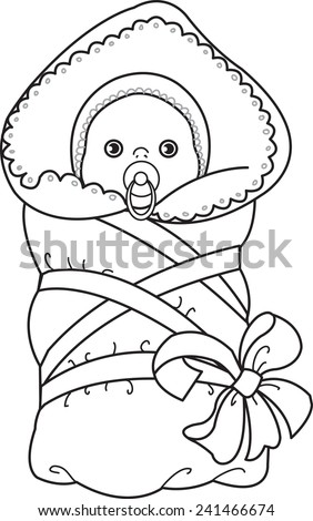 Baby Stroller Little Boy Dressed Sweater Stock Vector 244824019 ...