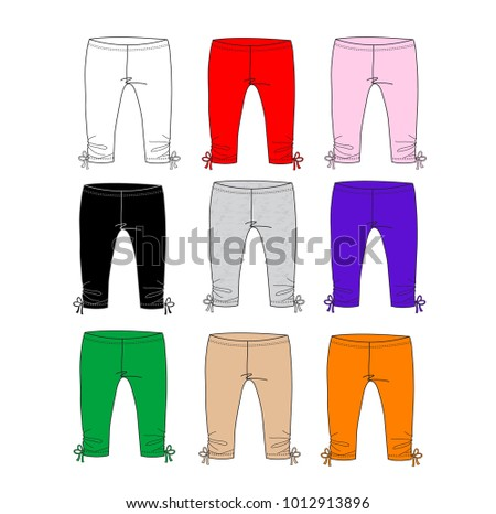 baby leggings pants with bow design templatemany color of knit pants design