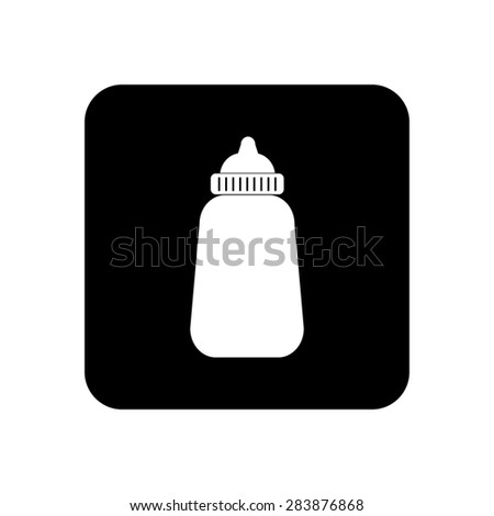 Baby milk bottle icon
