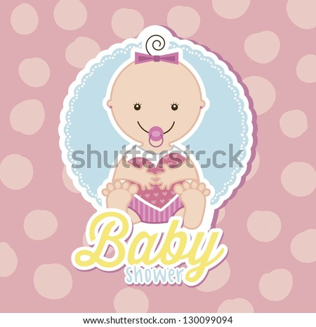 baby over white background. vector illustration - stock vector