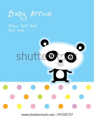 baby panda arrival - stock vector