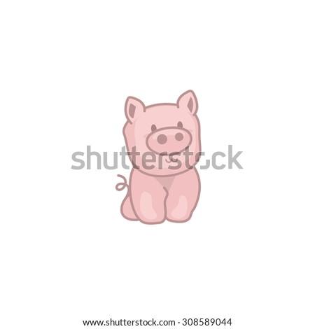 Baby Pig - stock vector