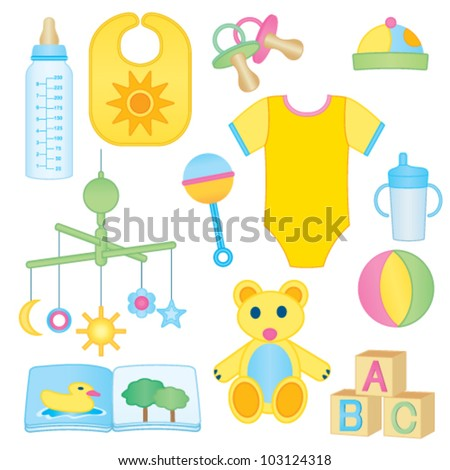 Baby related icons - stock vector