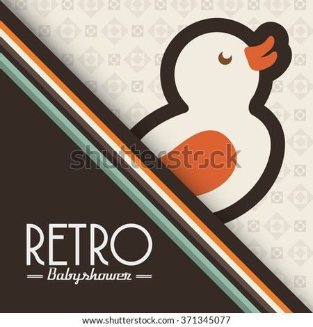 baby retro frame design