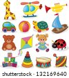 Baby's toys set. Vector illustration - stock photo