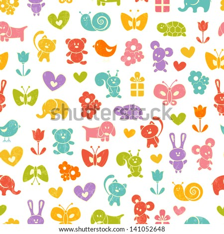 Baby seamless background. EPS 10 vector illustration. - stock vector