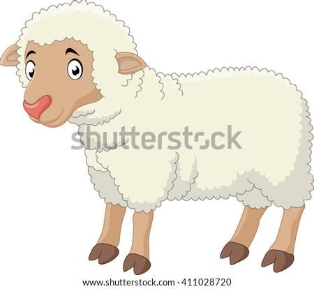 Baby sheep cartoon - stock vector
