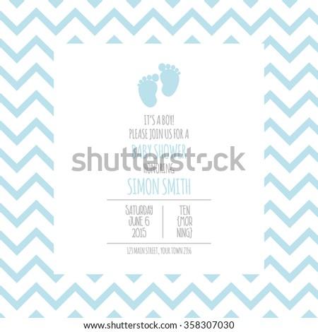 Baby Shower Background - stock vector