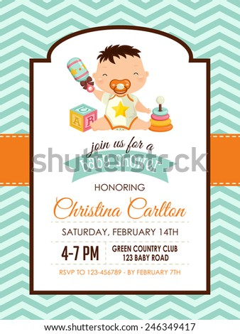 baby shower invitation boy stock photos, royaltyfree images, Baby shower invitations