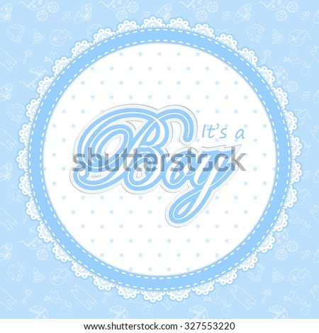 baby shower card boy baby shower stock vector royalty free