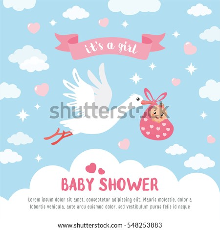 baby shower stock images, royaltyfree images  vectors  shutterstock, Baby shower invitation